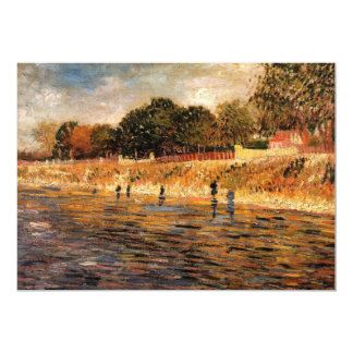 Van Gogh Banks of Seine River, Vintage Fine Art Card