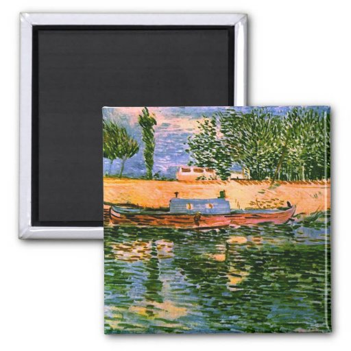 Van Gogh Banks of the Seine with Boats (F353) Fridge Magnet