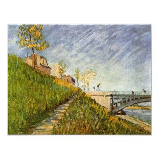 Van Gogh Banks of the Seine with Pont de Clichy Card