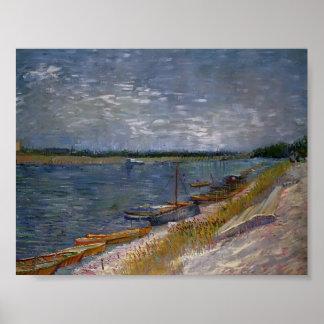 Van Gogh - barcos amarrados Impresiones