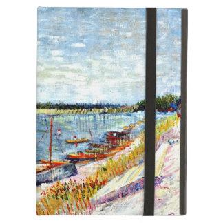 Van Gogh - barcos amarrados, pintura de Vincent va