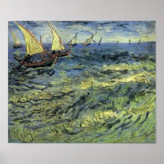 Van Gogh - barcos de pesca en el mar Impresiones