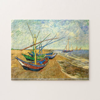Van Gogh - barcos de pesca en la playa de Saintes- Rompecabeza