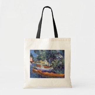 Van Gogh - barcos de Rowing en los bancos del Oise Bolsa Tela Barata