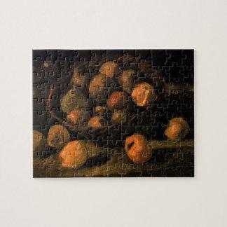 Van Gogh Basket of Apples, Vintage Still Life Art Jigsaw Puzzle