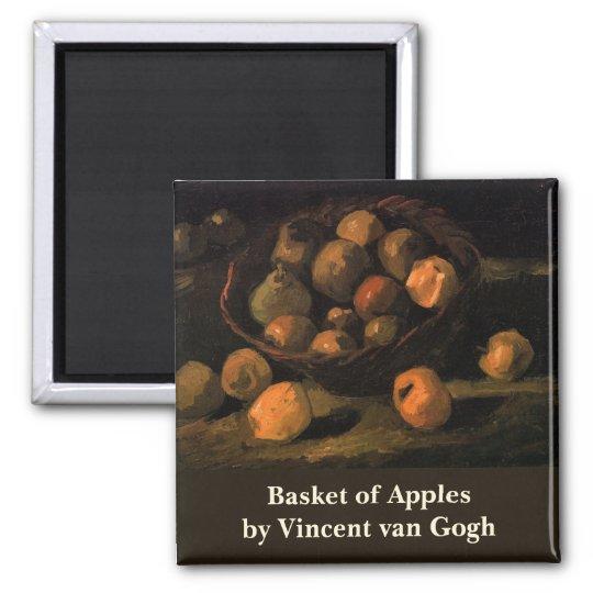 Van Gogh Basket of Apples, Vintage Still Life Art Magnet