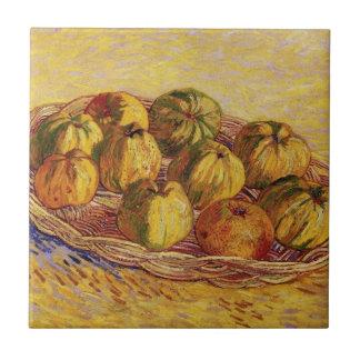 Van Gogh Basket of Apples, Vintage Still Life Art Tiles