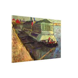 Van Gogh; Bathing Float on the Seine at Asniere Gallery Wrapped Canvas