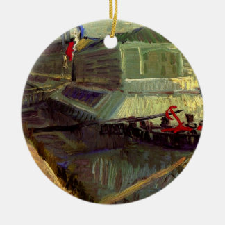 Van Gogh Bathing Float on the Seine at Asniere Ceramic Ornament