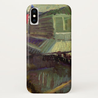 Van Gogh Bathing Float on the Seine at Asniere iPhone X Case