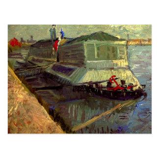 Van Gogh; Bathing Float on the Seine at Asniere Postcard