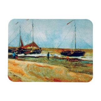 Van Gogh - Beach at Scheveningen in Calm Weather Rectangular Photo Magnet