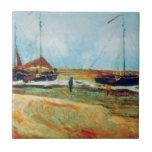 Van Gogh - Beach at Scheveningen in Calm Weather Tile