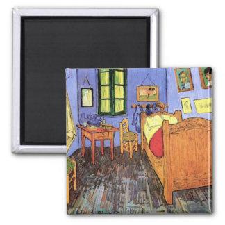 Van Gogh - Bedroom In Arles 2 Inch Square Magnet