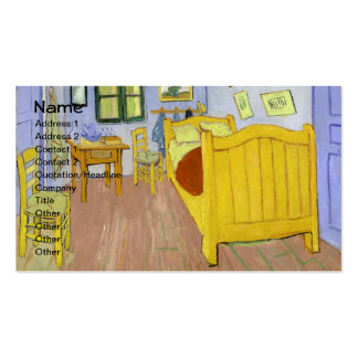 Van Gogh Bedroom in Arles (F482) Fine Art Double-Sided Standard Business Cards (Pack Of 100)