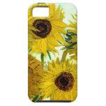 Van Gogh: Bella arte del vintage de los girasoles  iPhone 5 Cárcasas