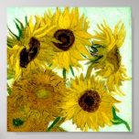 Van Gogh: Bella arte del vintage de los girasoles  Impresiones