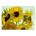 Van Gogh: Bella arte del vintage de los girasoles  Tarjetas