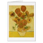 Van Gogh: Bella arte del vintage de los girasoles  Tarjeton