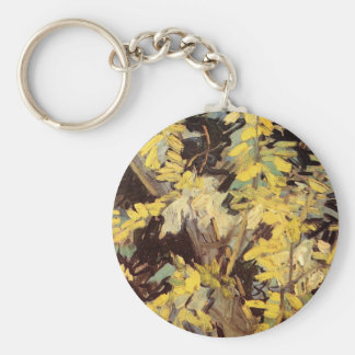Van Gogh, Blossoming Acacia Branches Flowers Keychain