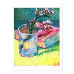 Van Gogh Blossoming Almond Branch Glass Book(F393) Postcards