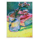 Van Gogh Blossoming Almond Branch Glass Book(F393) Print