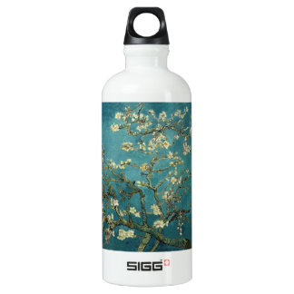 Van Gogh - Blossoming Almond Tree Aluminum Water Bottle
