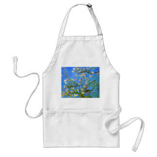 Van Gogh: Blossoming Almond Tree Branches Adult Apron