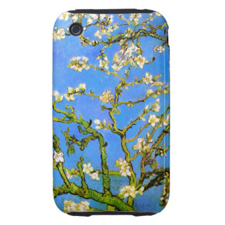 Van Gogh: Blossoming Almond Tree Branches iPhone 3 Tough Cover