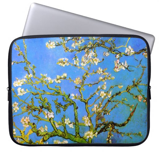 Van Gogh: Blossoming Almond Tree Branches Laptop Sleeves