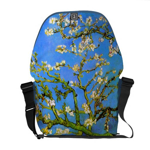 Van Gogh: Blossoming Almond Tree Branches Courier Bags