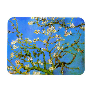 Van Gogh: Blossoming Almond Tree Branches Rectangular Photo Magnet