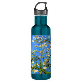 Van Gogh: Blossoming Almond Tree Branches Stainless Steel Water Bottle