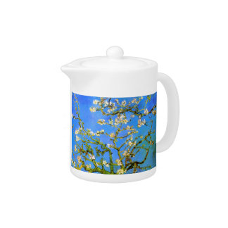 Van Gogh: Blossoming Almond Tree Branches Teapot