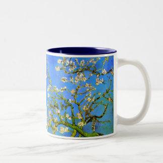 Van Gogh: Blossoming Almond Tree Branches Two-Tone Coffee Mug