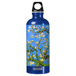 Van Gogh: Blossoming Almond Tree Branches Water Bottle