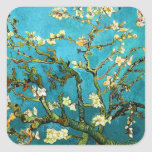 Van Gogh Blossoming Almond Tree (F671) Fine Art Square Stickers
