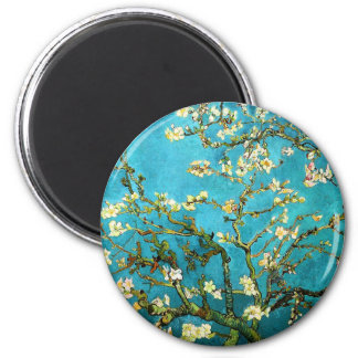 Van Gogh Blossoming Almond Tree Fine Art 2 Inch Round Magnet