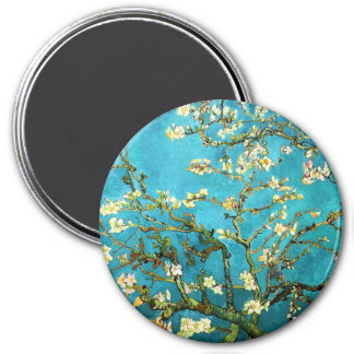 Van Gogh Blossoming Almond Tree Fine Art 3 Inch Round Magnet