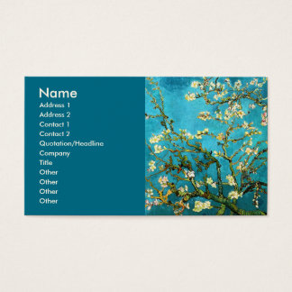 Van Gogh Blossoming Almond Tree Fine Art Business Card