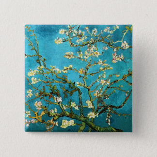Van Gogh Blossoming Almond Tree Fine Art Button