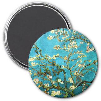 Van Gogh Blossoming Almond Tree Fine Vintage 3 Inch Round Magnet
