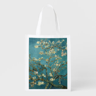Van Gogh - Blossoming Almond Tree Grocery Bag
