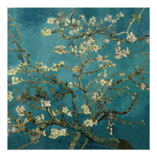 Van Gogh - Blossoming Almond Tree Poster