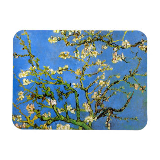 Van Gogh - Blossoming Almond Tree Rectangular Photo Magnet