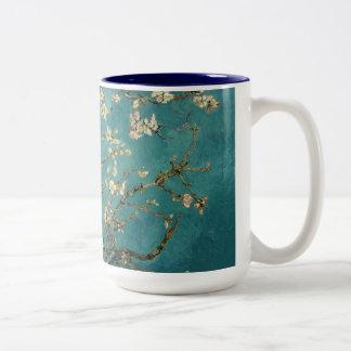 Van Gogh - Blossoming Almond Tree Two-Tone Coffee Mug