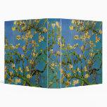 Van Gogh; Blossoming Almond Tree, Vintage Flowers Binder