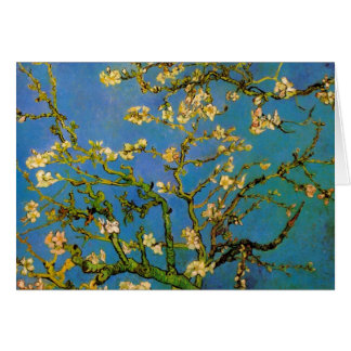 Van Gogh Blossoming Almond Tree Vintage Flowers Greeting Cards