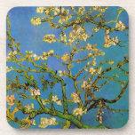 Van Gogh; Blossoming Almond Tree, Vintage Flowers Drink Coasters