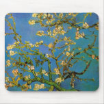 Van Gogh; Blossoming Almond Tree, Vintage Flowers Mouse Pads